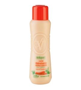 Leche hidratante bronceadora de zanahorias facial y corporal sin SPF