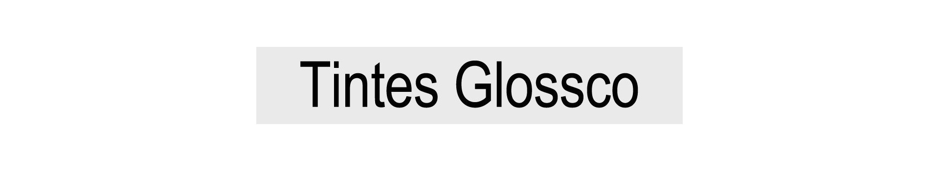 Tintes GLOSSCO